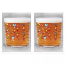 More details for 2 x beavertown psychedelic skull tumbler glasses 330ml brand new official glass