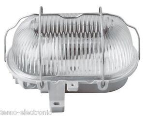 Kellerleuchte Kellerlampe Schiffsarmatur Ovalleuchte max. 60W, E27