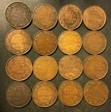 Old Canada Coin Lot - 1902-1920 - LARGE CENTS - 16 Coins - Lot #O28
