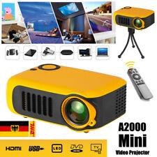 Tragbarer LED Projektor Mini Beamer Heimkino Multimedia HD 1080P USB HDMI AV DE