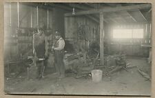 ANTIQUE OCCUPATIONAL PHOTO POSTCARD - BLACKSMITH WORKING