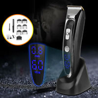 Rechargeable Electric Hair Cutting Clipper Razor Shaver LED Cordless Trimmer Kit