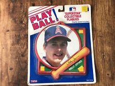 1989 PLAY BALL Tara Superstar Plaques MLB Wally Joyner California Angels nos