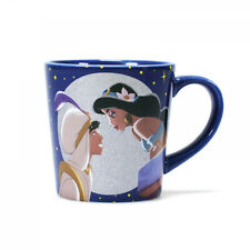 OFFICIAL DISNEY ALADDIN AND JASMINE TAPERED COFFEE MUG CUP NEW IN GIFT BOX