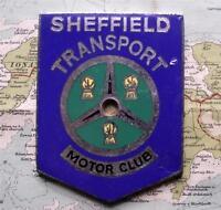 Vecchio Smalto Auto D'Epoca Mascotte Distintivo: Sheffield Veicoli Motore Club