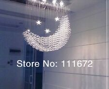 moon star Crystal Ceiling Lamp Stair light Fixtures Curtain Pendant Chandelier