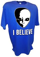 I Believe Aliens Area 51 Ufos Sightings Roswell Et Flying Saucers X-Files Tee