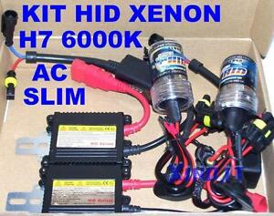 Set Hid Xenon H7 6000K 35W Control Units AC Slim Ballast Lights 6000° Kelvin K