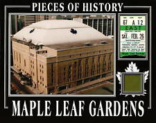 TORONTO AUTHENTIC MAPLE LEAF GARDENS GREEN SEAT & 1970's TICKET STUB PHOTO W/COA