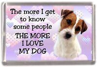 "Parson/Jack Russell Terrier Dog Fridge Magnet ""I LOVE MY DOG""  by Starprint"