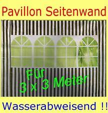 SEITENWAND FÜR GARTENPAVILLON  3x3  GRÜN !! SEITENWÄNDE