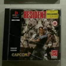 Playstation PS1 game with manual Resident Evil black label