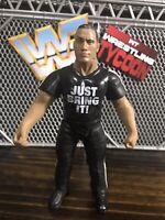 THE ROCK WWF Jakks Titan Tron Live Figure  WWE WCW ECW AEW NXT Wrestling