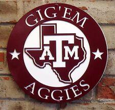 Texas A & M Metal Sign Gig'em