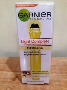 Garnier Skin Naturals Light Complete Eye Roll-On Roller Dark Circle Remover 15ml