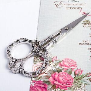 4 Colors European Vintage Floral Pattern Scissors Nail Art Foil Cutter Seamstres