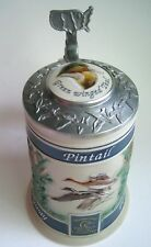 Budweiser Ducks Unlimited Lidded Beer Stein PACIFIC FLYWAY Red Head Pintail ..