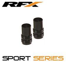 RFX Sport Series Valve Caps & Valve Key 2pcs BLACK SUZUKI RM65 RM85 RM125 RM250
