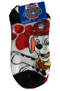 PAW PATROL Boys 5 Pack Ankle No-Show Assorted Colorful Socks Size 6-8.5