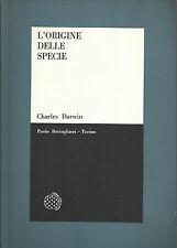 CHARLES DARWIN: L'ORIGINE DELLA SPECIE _BORINGHIERI/SCIENTIFICA_1964_MONTALENTI