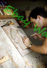 Wood Carving Artist ??? Saint-Jean-Port-Joli Quebec Canada 1959 Kodak 35mm Slide