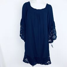 Westport Navy Off Shoulder Women Dress. Size XLPetite. NEw With Tags