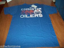 NEW - NHL - EDMONTON OILERS - BLUE SHIRT - REEBOK - LARGE