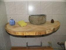 Baumscheibe, Holzscheibe, Waschtischplatte, ca. 110 x 50 x 5 cm, Eiche
