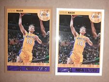 Lot(2) - Steve Nash - 2014 NBA Hoops Gold Parallel & Base Card - Phoenix Suns