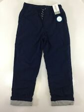 Carters Kid Boys Youth Cotton Lined Drawstring Pants Navy 7 NWT @