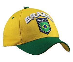 Brazil Cap Hat Yellow/Green Rhinox