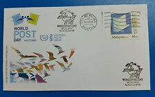 World Post Day KL and National Mail centre First Day Cover FDC Malaysia 2015