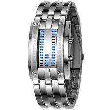 Luxury Men's LED Digital Stainless Steel Band Date Bracelet Sport Wrist Watches