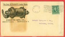 USA 1c Solo on BUFFALO 1904 COASTER BRAKE Advertising cover to Switzerland