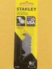 Stanley, 5 Replacement Blades, Large Hook Blades Part# 11-983