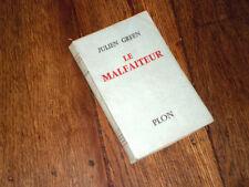 le malfaiteur 1955 Julien Green tirage additionnel édition originale