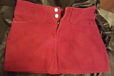 Juniors Rust Corduroy Mini Skirt Size 5