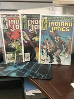 The Further Adventures of Indiana Jones #1 , 2, 3,  SET OF 3(Jan 1983, Marvel)