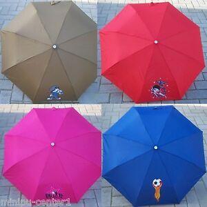 Kinderschirm Kinder Schirm Taschenschirm Regenschirm Fußball Herz Schule klein