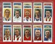 More details for famous footballers - r & j hill - full 1939 football cigarette card set (tg16)