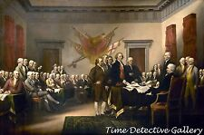Signing the Declaration of Independence - American Revolution Art Print