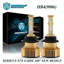 4sides 9006 HB4 LED Headlight Low Beam 6000K 2500W 375000LM White Upgrade Bulbs
