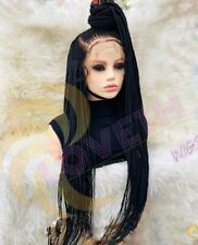 Braided Wig Cornrow Ponytail Lace Front BraidWig 32 Inches Box Braid