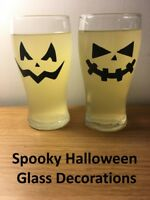 Halloween Party Spooky Cup Wine Glass Bottle Wall Decoration Window Stickers x12