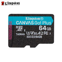 Kingston 64GB Canvas Go! Plus microSDXC V30 Klasse 10 Speicherkarte TF 170MB/s