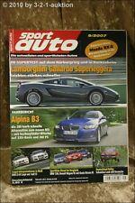 Sport Auto 9/07 Alpina B3 BMW Z4 M Audi S5 BMW 120d