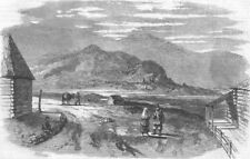 RUSSIA. Village, Siberian Side of Ural Mountains, antique print, 1857