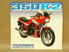 Vtg Moto Morini 350 K2 Motorcycle Brochure Flyer Pamphlet Specifications Italian