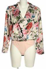TALIA BENSON Blusen-Body Blumenmuster Elegant Damen Gr. DE 38 pink Bluse Blouse