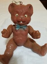 """Vintage Bear, made in Italy ,hollow plastic articulated movable eyes,13"""" tall"""